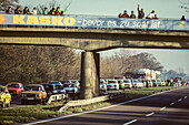 historic opening of the east German border, autobahn, east German Trabant cars, traffic, 1989, Germany