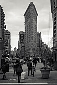 On the 5th Ave in Manhatten the Flatiron Building, New York City, New York, USA