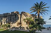 Musée d'Archéologie, Archaeology museum, Fort Saint-Andre, stone defensive, Bastion Saint Andre, Antibes, Côte d'Azur (French Riviera)