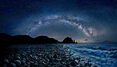 Valugan Boulder Beach with stars, Batanes , Batan Island   Batanes