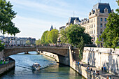 View of the River Seine, Paris, France, Europe