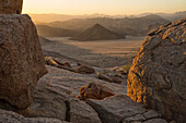 Late daylight illuminates the landscape in Richtersveld National Park, South Africa