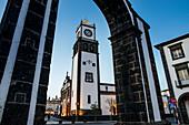 Gates to the city, Ponta Delgada, Sao Miguel, Azores, Portugal