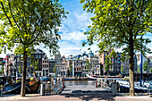 view to the Amstel of Amsterdam, Netherlands