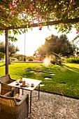 lounge area at the Finca Son Gener near Arta, Mallorca, Balearic Islands, Spain