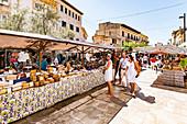 market in Santanyi, Mallorca, Balearic Islands, Spain