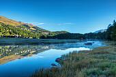 Lake Champfer, Champfer, Engadine, Canton Grisons, Switzerland