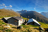 Alp Muottas with Piz Muragl, Pontresina, Engadine, Canton Grisons, Switzerland