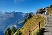 Panoramic-view restaurant at Schynige-Platte,  Wilderswil, Bernese alps, Canton Berne, Switzerland
