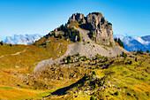 View at Oberberghorn  from Schynige Platte, Wilderswil, Bernese alps, Canton Berne, Switzerland