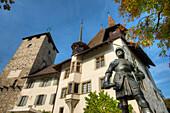 Spiez castle at Lake Thun, Thun, Canton Berne, Switzerland