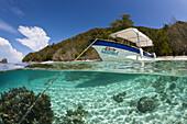 Diving Boat Papua Explorers Resort, Raja Ampat, West Papua, Indonesia