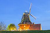 Windmill Borstel near Jork, Altes Land, Lower Saxony, Northern Germany, Germany, Europe