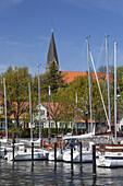 Harbour in Eckernförde, Baltic coast, Schleswig-Holstein, Northern Germany, Germany, Europe