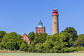 Lighthouses Cape Arkona, Peninsula Wittow, Island Ruegen, Baltic Sea coast, Mecklenburg-Western Pomerania, Northern Germany, Germany, Europe