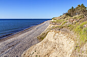 Cliffs near Dranske, Peninsula Wittow, Island Ruegen, Baltic Sea coast, Mecklenburg-Western Pomerania, Northern Germany, Germany, Europe