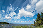 clouds gathering in the sky at lake vanern, Halland, Sweden