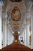 Interior of the church Heilig-Geist-Kirche, Munich, Haidhausen