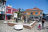 Sculpture at Sam Sharpe Square in downtown Montego Bay, Saint James, Jamaica