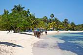 Half Moon Resort horseback ride excursion along Sunrise Beach and in Caribbean Sea Rose Hall, near Montego Bay, Saint James, Jamaica