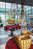 Stage lobby bar & lounge in the Kameha Grand Hotel in Bonn, Middle Rhine Valley, North Rhine-Westphalia, Germany, Europe