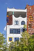 Hundertwasser School Luther-Melanchthon-Gymnasium in Lutherstadt Wittenberg, Saxony-Anhalt, Germany, Europe