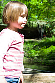 Girl in zoo, Zoo Hagenbeck, Hamburg, Germany