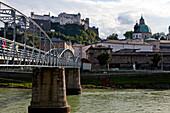 Mozartsetg over the Salzach River, Salzburg, Austria
