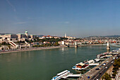 View over the Danube and Budapest, Hungary