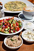 Israeli salad, Tel-Aviv, Israel
