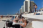 The Tayelet (beach promenade), Tel-Aviv, Israel