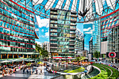 Interior of the Sony Center, Potsdamer Platz, Berlin, Germany