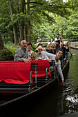 Boat trip on the Spree, Vacation, Family Tour, Summer, Spreewald, Oberspreewald, Brandenburg, Germany