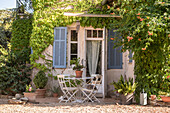House and garden in  southern France, summer, La Bouverie, French Riviera, Cote d'Azur, France