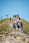 Wandern am Fellhorngrat, Bergpanorama, Fellhornbahn, Urlaub, Sommer, Oberstdorf, Oberallgäu, Alpen, Deutschland