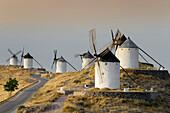 Don Quixote windmills, Consuegra, Castile-La Mancha, Spain, Europe