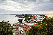 View over Punta Gorda and the Cienfuegos Bay, Cienfuegos, Cuba, West Indies, Caribbean, Central America