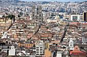 Blick von Panecillo, Quito, Ecuador, Südamerika