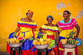 Fruit street vendors, Cartagena, Colombia, South America