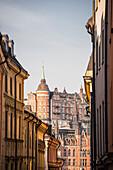 Ansicht von Mariaberget aus Gamla Stan, Stockholm, Schweden, Skandinavien, Europa
