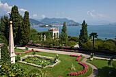 Lily pond, Isola Bella, Borromean Islands, Stresa, Lake Maggiore, Italian Lakes, Piedmont, Italy, Europe