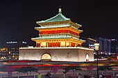 China, Shaanxi Province, Xi'an City, The Bell Tower.
