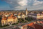 Romania,Romania, Targu Mures City, City Hall, Prefecture Bldg. and Culture Palace.