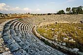 Perge stadium. Old capital of Pamphylia Secunda. Ancient Greece. Asia Minor. Turkey.