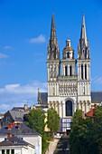Angers, Cathedral, Maine et Loire, Anjou Province, River Maine, Pays de la Loire, Loire Valley, UNESCO World Heritage Site, France.