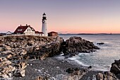 Portland Head Light just before Sunrise, Cape Elizabeth, Maine.