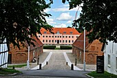 Moesgaard Manor, historical building housing the museum administration and Aarhus University offices and student facilities, located at Hojbjerg in the suburb of Aarhus, Jutland Peninsula, Denmark, Northern Europe.