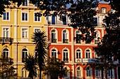 Portugal, Lisbon, front building on Jardim do Principe real.