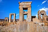 Iran, Fars Province, Persepolis, World Heritage of the UNESCO, Darius 1st palace.