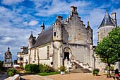 France, Indre-et-Loire (37), Loches, Royal castle and dwelling.